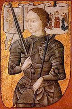 Joan of Arc appearing in a Shakespearean play
