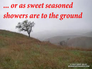 or as sweet-seasoned showers are to the ground
