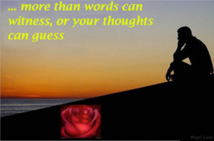 i love you more than words can witness or your thoughts can guess