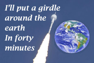 a girdle around the earth in forty minutes