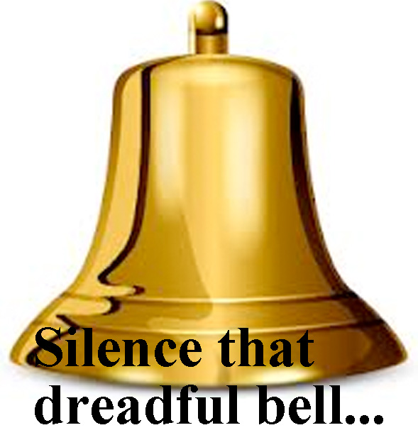 Silence that dreadful bell, it frights the isle From her propriety