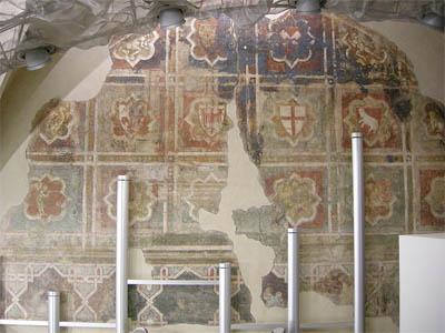 Fresco in the Palagion dell'Arte della Lana in Florence