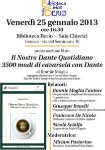 presentation brochure of the presentation in Genoa