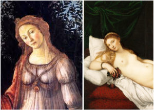 Botticelli Primavera and Titian Venus, which is the sexier? In relation to events in Forest Grove and Shakespeare's sonnet 129