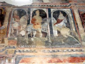 Fresco of the Three Magi in San Pietro a Valley Abbey