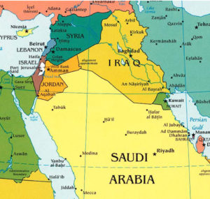map of saudi arabia and reference to Shakespeare quote on education. EVANS. I pray you, have your remembrance, child; Accusativo, hing, hang, hog. MISTRESS QUICKLY. Hang hog is Latin for bacon, I warrant you