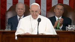 "image of Pope speaking in congress - illustration of Shakespeare's lines from Richard III, ""meditating with two deep ddivines>"""