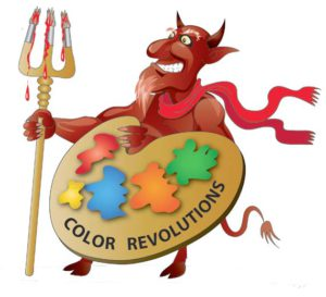 devil as a symbol of color revolutions