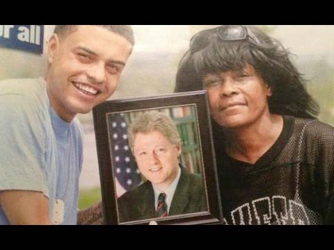 picture of clinton's male son and mother