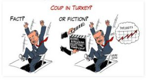 cartoon on Erdogan and coup in Turkey