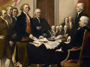 "Painting and picture of the Founding Fathers, for the article ""The Founding Fathers and Other Tales"""